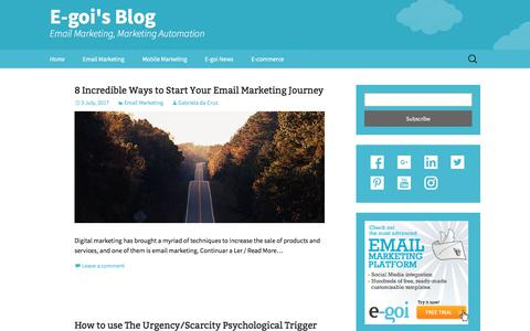 Screenshot of Blog e-goi.com - E-goi's Blog - Email Marketing, Marketing Automation - captured July 6, 2017