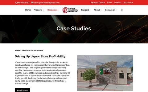 Screenshot of Case Studies Page customindprod.com - Case Studies | Custom Industrial Products - captured June 26, 2018