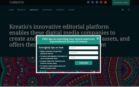 Screenshot of Case Studies Page kreatio.com - Kreatio- Case study - captured Feb. 12, 2016
