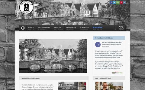 Screenshot of Home Page phototourbrugge.com - Welcome to Photo Tour Brugge, walking tours in Brugge (Bruges) Belgium - captured Sept. 29, 2014