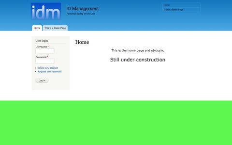 Screenshot of Home Page idm.nl - Home | ID Management - captured Oct. 3, 2014