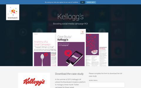Screenshot of Case Studies Page brandwatch.com - Kellogg's | Brandwatch - captured Oct. 20, 2017