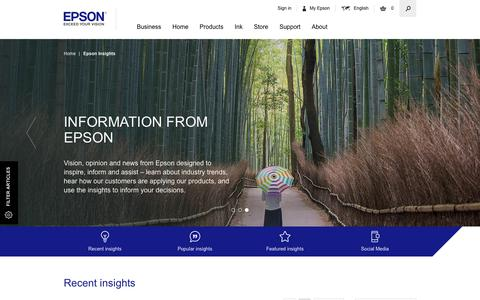 Screenshot of Case Studies Page epson.co.uk - Epson News, Newsroom, Press Articles, Blog Posts, Case studies - Epson - captured Sept. 22, 2018