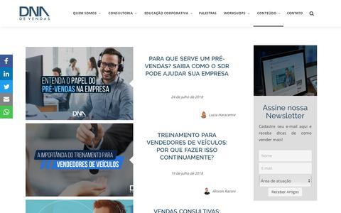 Screenshot of Blog dnadevendas.com.br - O Melhor Blog de Vendas do Brasil - DNA de Vendas - captured Aug. 5, 2018