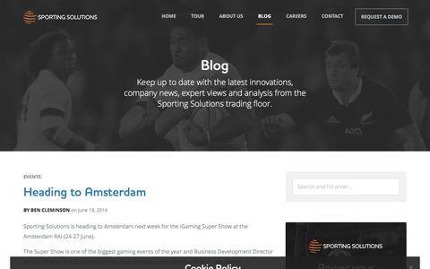Screenshot of Blog sportingsolutions.com - Blog / Sporting Solutions - captured Feb. 23, 2016