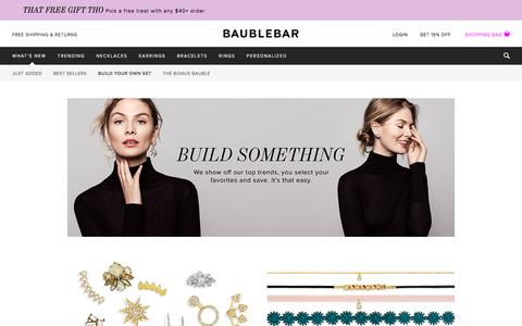 Build Your Own Set - What's New | BaubleBar