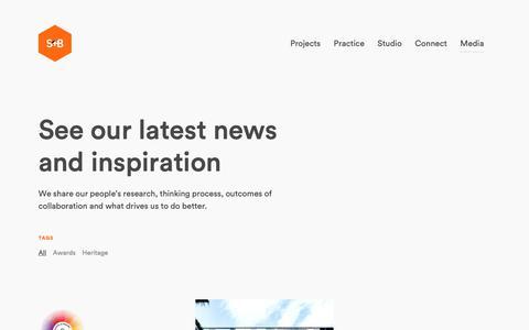 Screenshot of Press Page s4bstudio.com.au - Media - S4B - captured Nov. 5, 2018