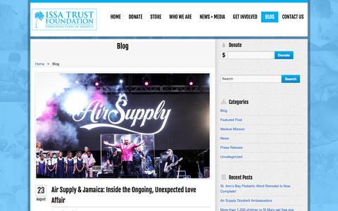 Screenshot of Blog issatrustfoundation.com - Blog «  Issa Trust Foundation - captured Sept. 20, 2018