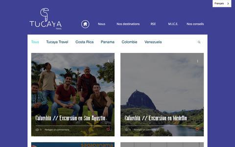 Screenshot of Blog tucayatravel.com - Tucaya Travel Agence de Voyage | Blog - captured July 10, 2018