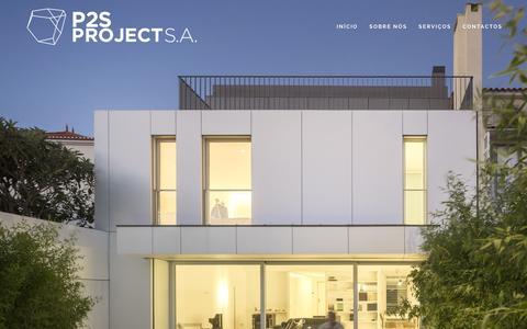 Screenshot of Home Page p2s.pt - P2S Project - Excelência em Projetos e Empreendimentos - captured Jan. 22, 2016