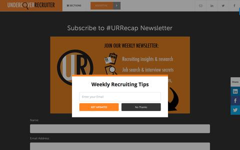 Subscribe to the Weekly #URRecap Newsletter