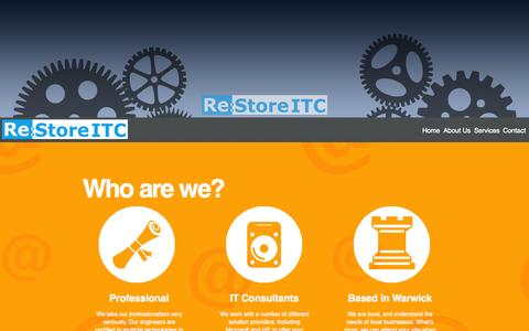 Screenshot of Home Page restoreitc.com - Restore IT Consultants Ltd - captured Oct. 8, 2014