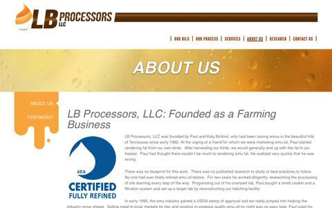 Screenshot of About Page lbprocessors.com - About Us | LB Processors LB Processors - captured Jan. 22, 2016