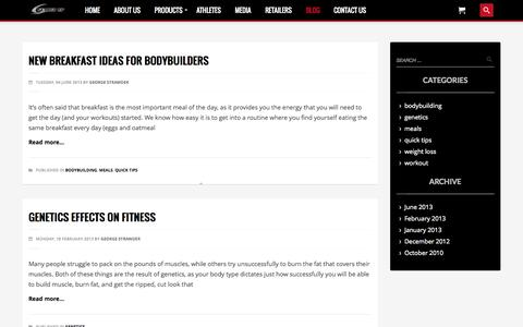 Screenshot of Blog gearedupnutrition.com - Blog | Geared Up Nutrition - captured Sept. 29, 2014