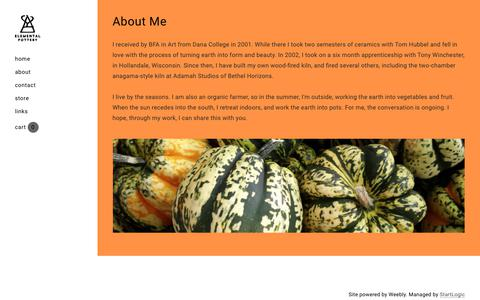 Screenshot of About Page elementalpottery.com - About - Elemental Pottery - captured July 17, 2018