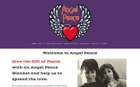 Screenshot of Home Page angelpeace.com - Angel Peace - captured Jan. 27, 2015
