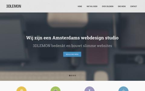Screenshot of Home Page 3dlemon.com - 3DLEMON | Webdesign & Online Marketing - captured Oct. 9, 2014