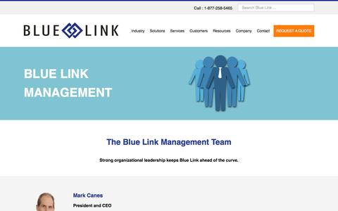 Screenshot of Team Page bluelinkerp.com - Accounting and Inventory Software | The Blue Link Management Team - captured Feb. 7, 2016