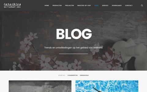Screenshot of Blog interhiva.nl - Blog - Alles over trends op wellnessgebied | Interhiva - captured Nov. 26, 2016