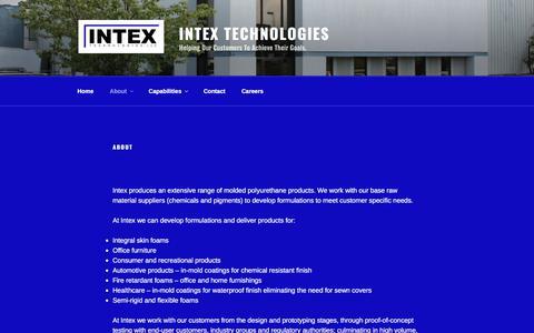 Screenshot of About Page intextech.net - About - Intex Technologies - captured Oct. 15, 2017