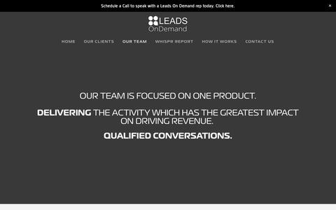 Screenshot of Team Page leadsondemandinc.com - Our Team — Leads On Demand - captured March 22, 2019