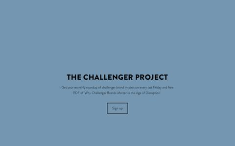 Screenshot of Signup Page thechallengerproject.com - Sign Up — The Challenger Project - captured Jan. 3, 2017