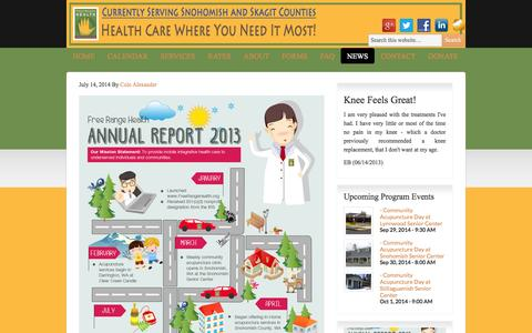 Screenshot of Press Page freerangehealth.org - News | Free Range Health - captured Sept. 30, 2014