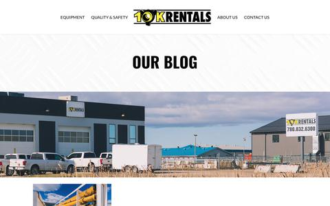 Screenshot of Blog 10krentals.ca - Oil and Gas Industry News and Blogs | 10K Rentals - captured July 5, 2018