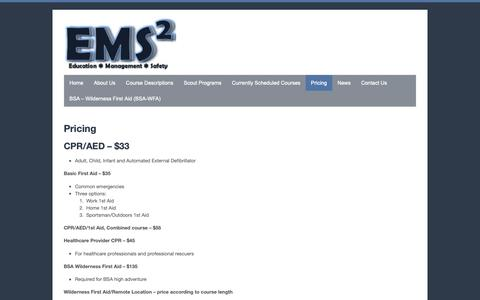 Screenshot of Pricing Page emssquared.net - Pricing • EMS Squared - captured Dec. 13, 2018