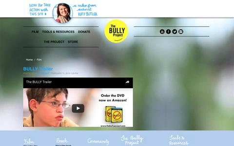 Screenshot of Press Page thebullyproject.com - Media - BULLY - captured Dec. 29, 2016