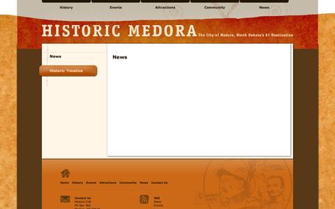 Screenshot of Press Page medorand.com - Historic Medora ND - North Dakota's #1 Destination - captured March 10, 2016