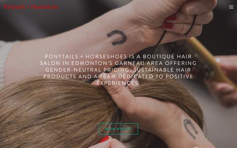 Screenshot of Home Page poho.ca - Ponytails + Horseshoes - captured Nov. 10, 2018
