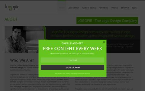 Screenshot of About Page logopie.com - Logo Designer India - Logo Design India, Corporate Logo Design | Logopie - captured Nov. 4, 2015