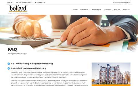Screenshot of FAQ Page bollard.nl - FAQ - Bollard Accountants √ Belastingadviseurs - captured Oct. 6, 2018