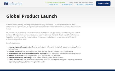 Global Product Launch | Trial Interactive