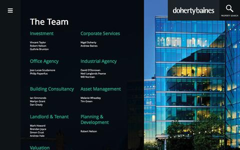 Screenshot of Team Page dohertybaines.com - dohertybaines - Meet Our Professional Team | dohertybaines - captured Aug. 9, 2018