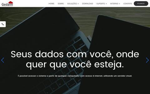 Screenshot of Home Page goyazsistemas.com.br - Sistema para imobiliária - Gedaim - captured Nov. 24, 2016