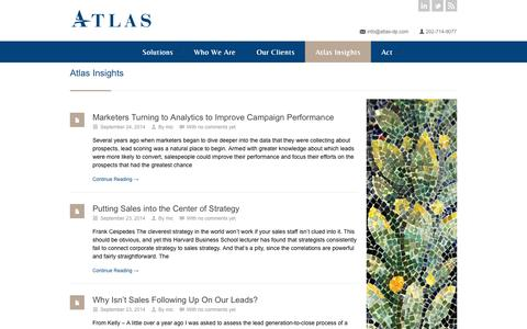 Screenshot of Blog atlasdigitalpartners.com - Atlas Digital Partners - captured Sept. 30, 2014