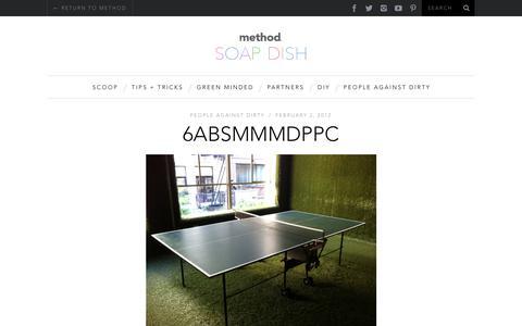 Screenshot of Blog methodhome.com - 6ABSMMMDPPC | method soap dish blog - captured March 23, 2018