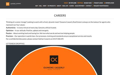 Screenshot of Jobs Page ocre.com.au - Careers - captured Oct. 10, 2018