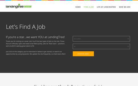 Screenshot of Jobs Page lendingtree.com - Find a Job – LendingTree Careers – Jobs at LendingTree - captured July 2, 2018