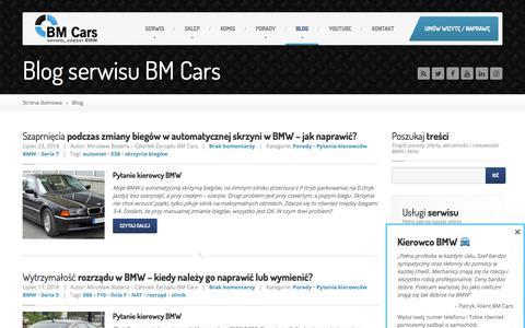 Screenshot of Blog bmcars.pl - Blog | BM Cars - captured July 31, 2018
