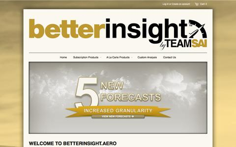 Screenshot of Home Page betterinsight.aero - betterinsight™ by TeamSAI - captured Oct. 5, 2014