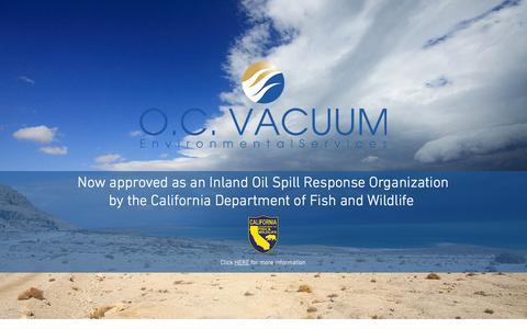 Screenshot of Home Page oc-vac.com - O.C. Vacuum, Inc. Environmental Services - captured Feb. 22, 2016