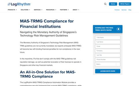 MAS-TRMG Compliance for Financial Institutions | LogRhythm
