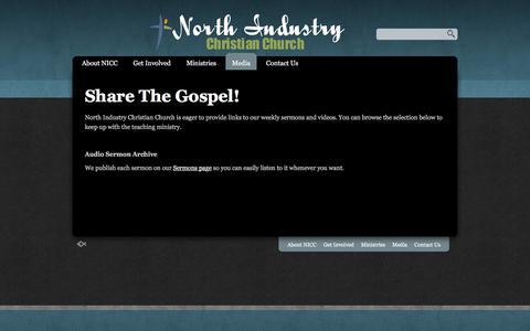 Screenshot of Press Page nicconline.com - Media «  North Industry Christian Church - captured Feb. 15, 2016