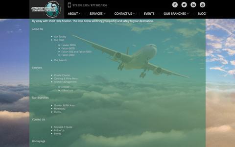 Screenshot of Site Map Page shorthillsaviation.com - Sitemap - Short Hills Aviation Services - captured Feb. 14, 2016