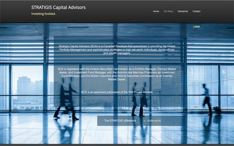Screenshot of About Page stratigis.info - Stratigis Capital Advisors | Our Story - captured Oct. 25, 2017