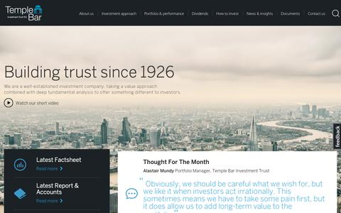 Screenshot of Home Page templebarinvestments.co.uk - Home | Temple Bar - captured Oct. 26, 2018