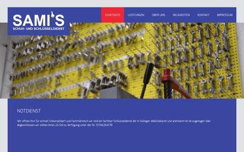 Screenshot of Home Page schuhservice-solingen.de - Schuhservice und Schlüsseldienst Solingen - NotfallserviceSchuhservice - captured Jan. 28, 2015